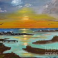 Sunset On The North Sea by Betty and Kathy Engdorf and Bosarge
