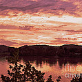 Sunset On The Ohio River  by Lydia Holly