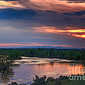 Sunset On The Payette  River by Robert Bales