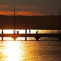 Sunset On The Pier by Scott Fracasso