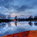 Sunset On The Pond by David Dufresne