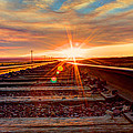 Sunset On The Rails by John Lee