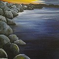 Sunset On The Rocks  by Roni Ruth Palmer