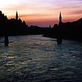 Sunset On The Salzach by KG Thienemann