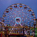 Sunset On The Santa Monica Ferris Wheel by Tommy Anderson
