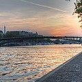 Sunset On The Seine by Jennifer Ancker