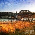 Sunset On The Siuslaw River by Charlene Mitchell