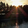 Sunset On The Volga River by Linda Dunn