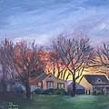 Sunset On Travis Ave. by Sheri Jones