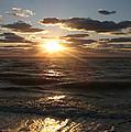 Sunset On Venice Beach  by Christiane Schulze Art And Photography