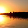 Sunset On West Lake Okoboji by Amelia Painter
