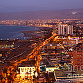 Sunset Over Arica Chile by James Brunker
