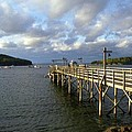 Sunset Over Bar Harbor by Allen Beatty