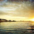 Sunset Over Biloxi Bay by Joan McCool