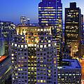 Sunset Over Boston - Financial District Skyline by Joann Vitali