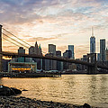 Sunset Over Brooklyn Bridge by Saurav Pandey