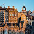 Sunset Over Edinburgh by Brian Jannsen