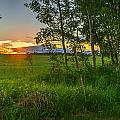Sunset Over Farmers Field by Thomas Nay