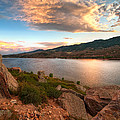 Sunset Over Horsetooth by Preston Broadfoot