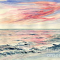 Sunset Over Indian Ocean by Melly Terpening