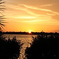 Sunset Over Intercoastal by Shari Bailey