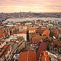 Sunset Over Istanbul by Luciano Mortula