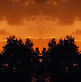 Sunset Over Jackson Michigan Mirror Image by Thomas Woolworth