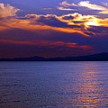 Sunset Over Korcula by Laurel Talabere