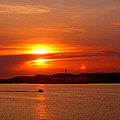 Sunset Over Lake Ozark by Cricket Hackmann
