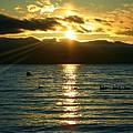 Sunset Over Lake Tahoe by Ellen Heaverlo