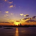 Sunset Over Miami by Lou  Novick