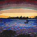 Sunset Over Miami by Phil Perkins