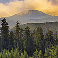 Sunset Over Mount St Helens by Jit Lim