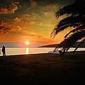 Sunset Over Mytilene by Zapista Zapista