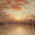 Sunset Over New York Bay by Sanford Robinson Gifford