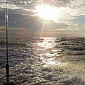 Sunset Over Nj After Fishing by John Telfer