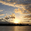 Sunset Over Peanut Island by Nina Prommer