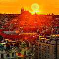 Sunset Over Prague by Midori Chan