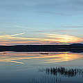 Sunset Over Raquette Pond In Tupper Lake Ny by Maggy Marsh