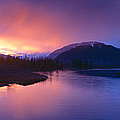 Sunset Over Resurrection River And Exit by Panoramic Images