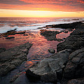 Sunset Over Rocky Coastline by Johan Swanepoel
