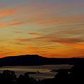 Sunset Over San Francisco Bay And Mount Tamalpais by Russ Greene