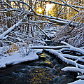 Sunset Over Snowy Mammoth Creek by Jesse Barlet