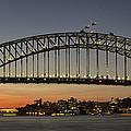 Sunset Over Sydney Harbour Bridge by Kevin Hellon