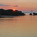 Sunset Over The Bay by Debra Rahl