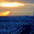 Sunset Over The Eiffel Tower by Toby McGuire