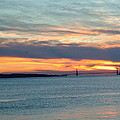 Sunset Over The Golden Gate by Susan Wyman