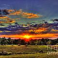 Sunset Over The Hay Field by Reid Callaway