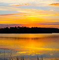 Sunset Over The Lake by Parker Cunningham