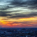 Sunset Over The Metro by Sennie Pierson